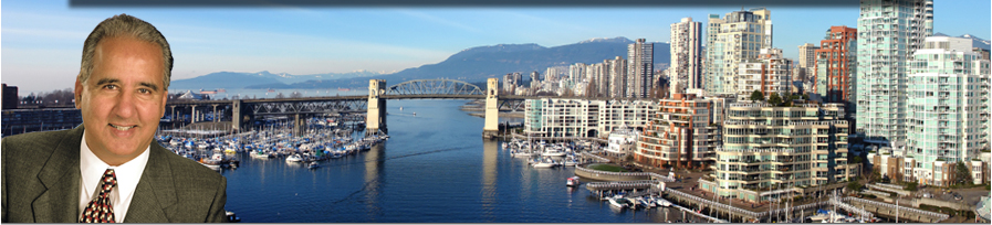 Realtor ® Nat Dhaliwal superimposed over English Bay Vancouver Skyline